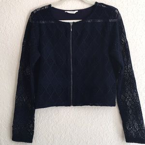 NAF NAF Paris Lace long sleeve top. Size L